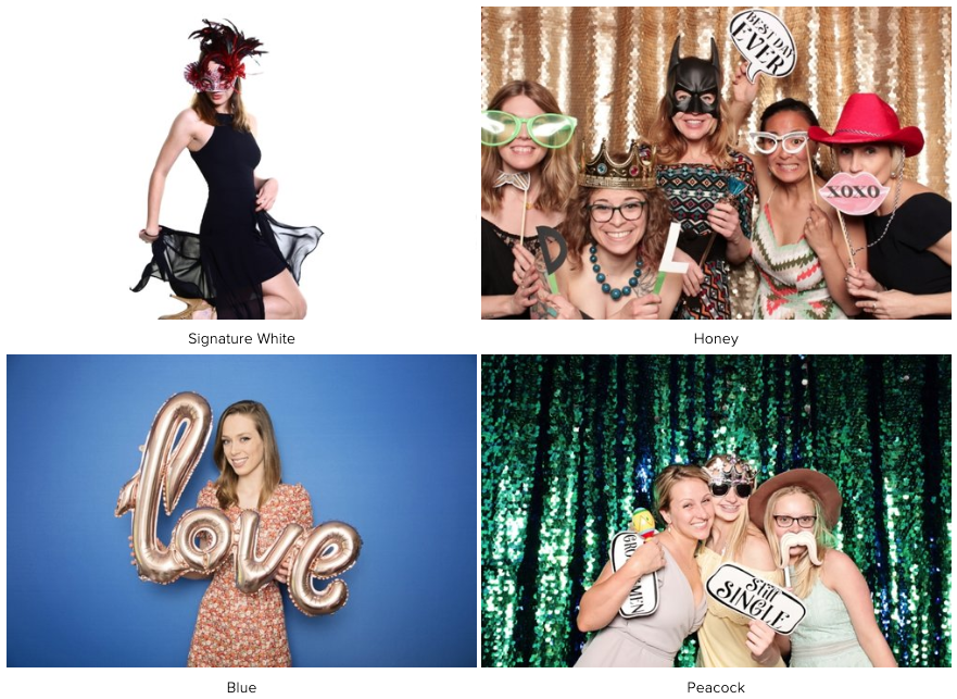 Backdrop Examples 1 | LeBlanc Photo Booth