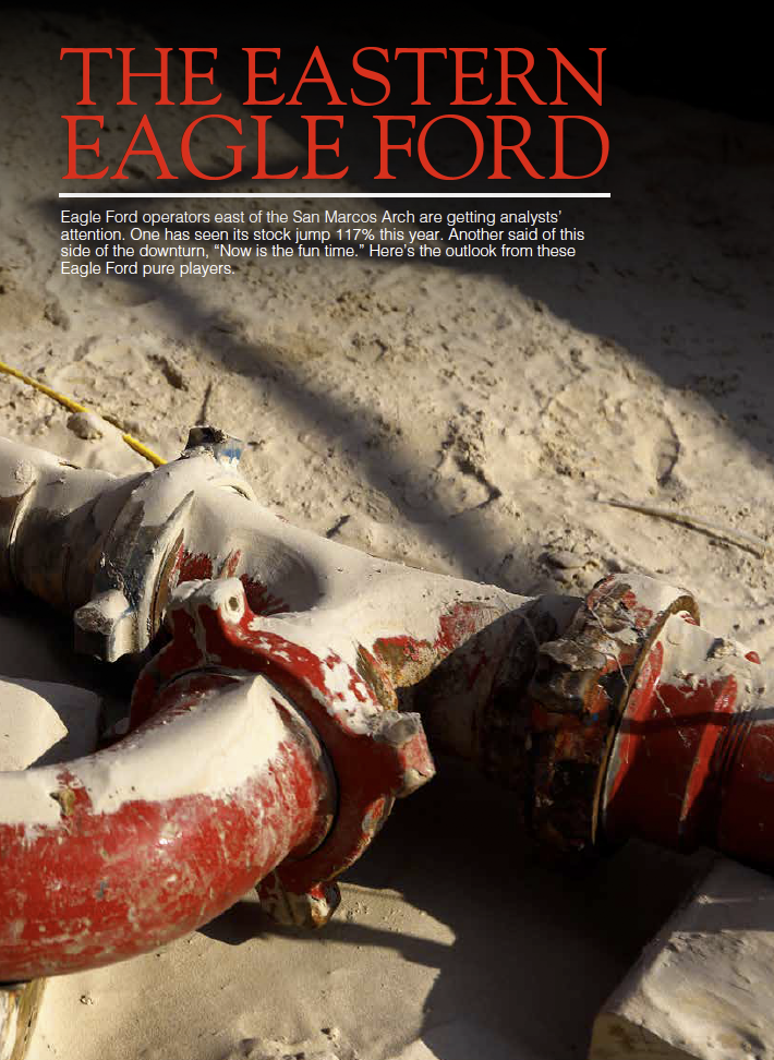 Click image to view complete Oil & Gas Investor article, The Eastern Eagle Ford, September 2018 Issue