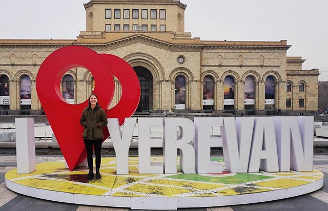 🇦🇲⠀ I had a quick but fantastic stop in Yerevan, Armenia, today! I loved my time in Yerevan and really enjoyed how lively the city was. There was so much to see and do and so much unique culture to take in. I spent the majority of my time visiting markets, public squares, and just walking the streets. It was a great day! I really hope to come back some day and spend more time in this welcoming country. Read more about my day at the link in my bio.⠀ Country 99/100