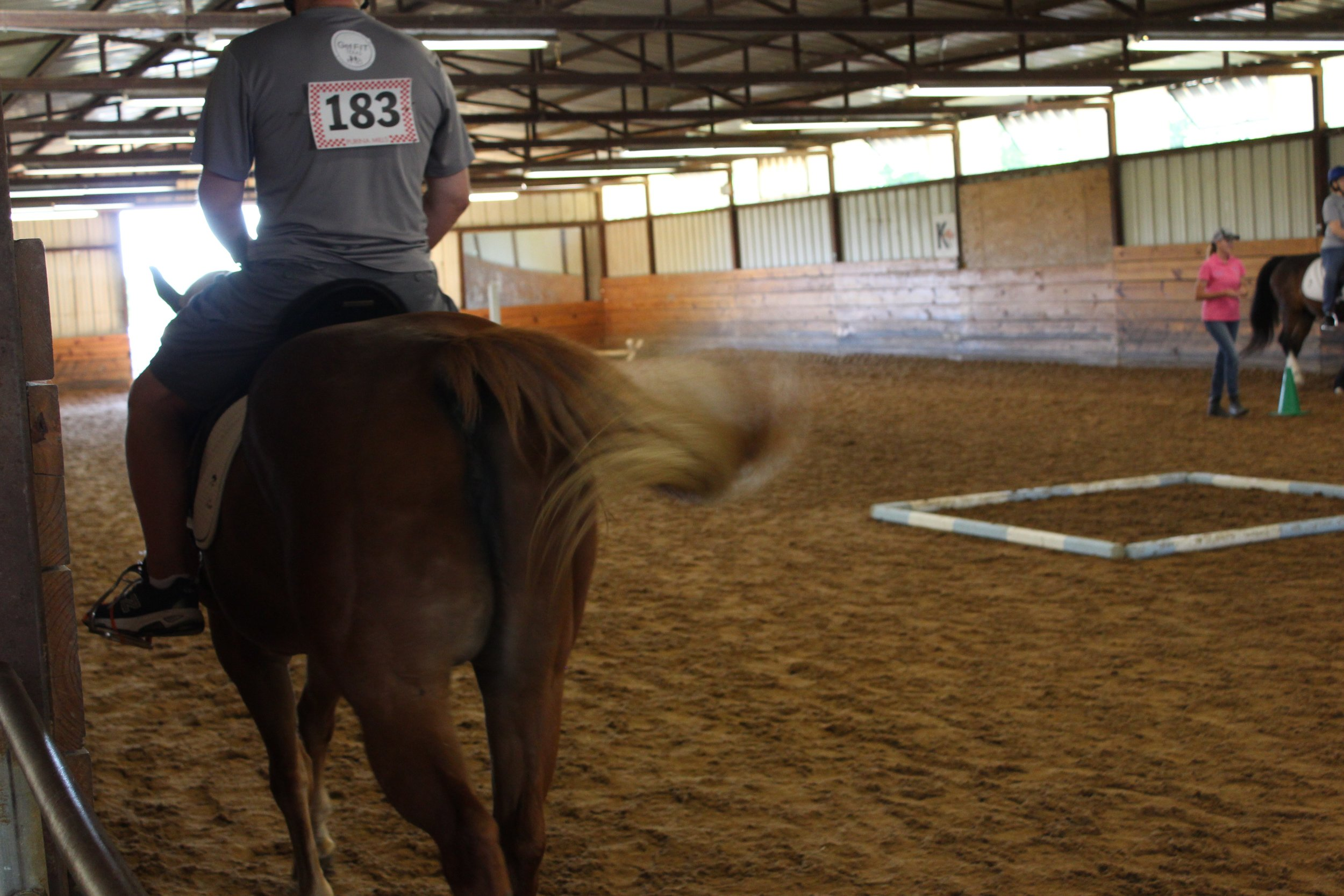 Larry's first horse show competition
