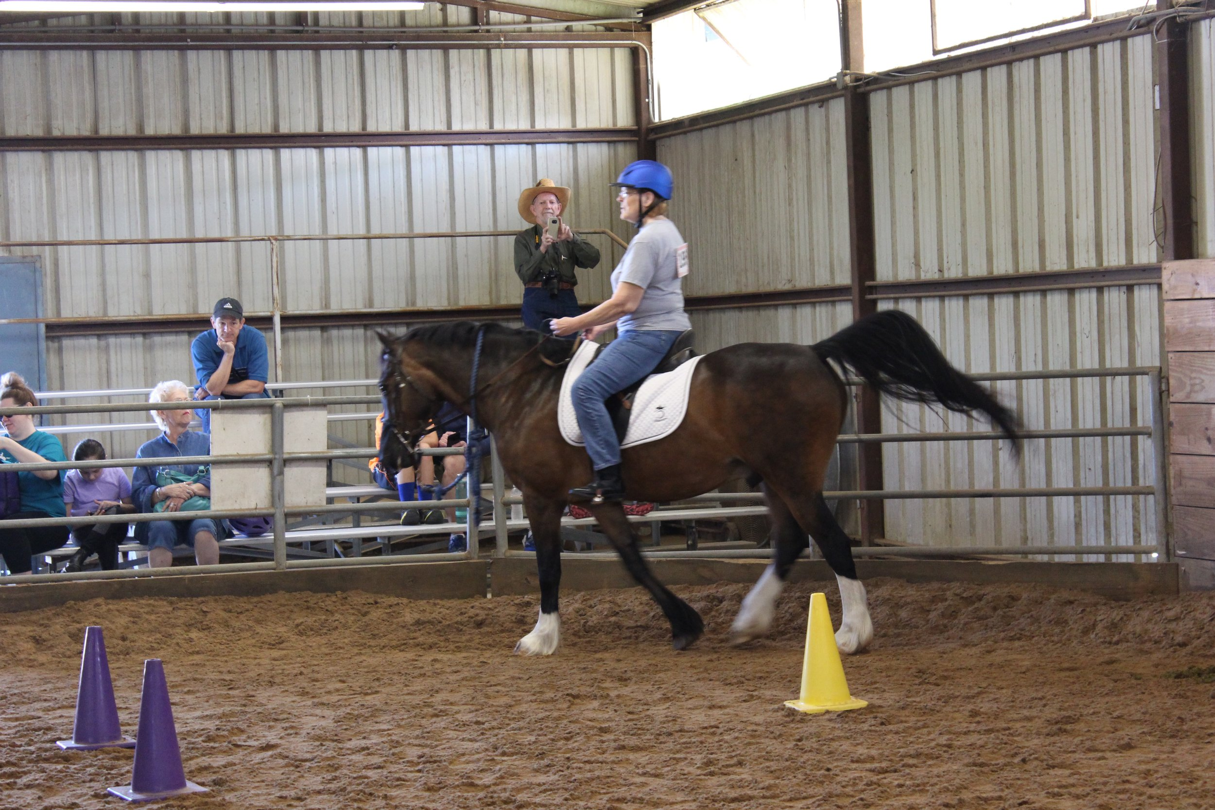 Linda's first horse show competition
