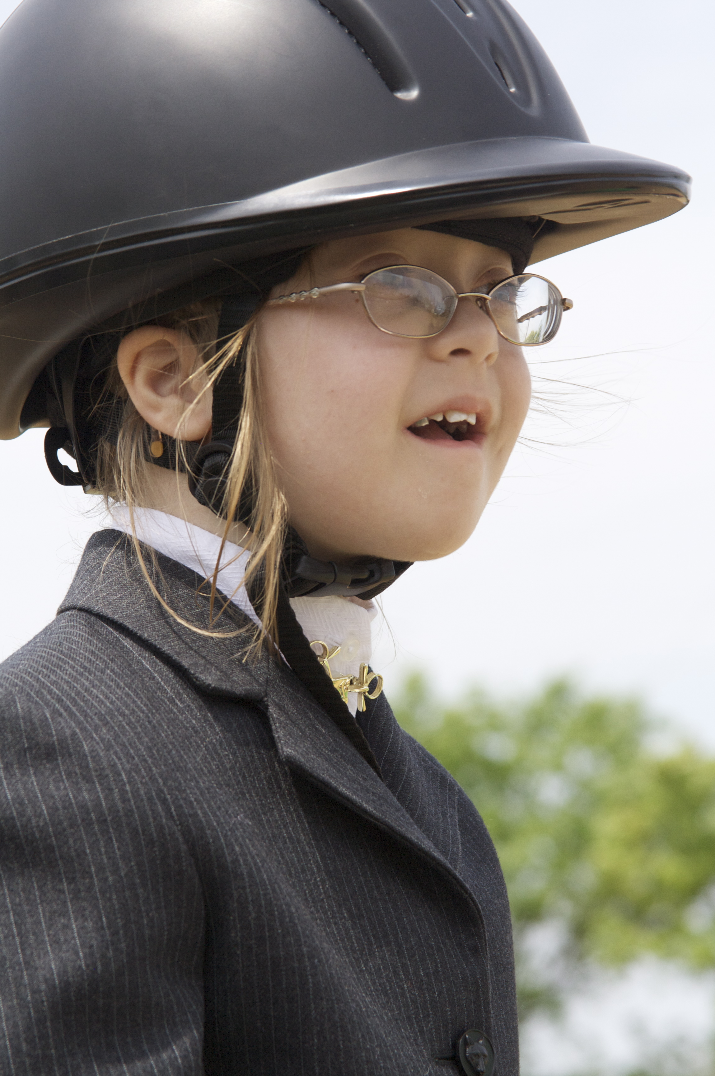 Samantha at Special Olympics in 2011