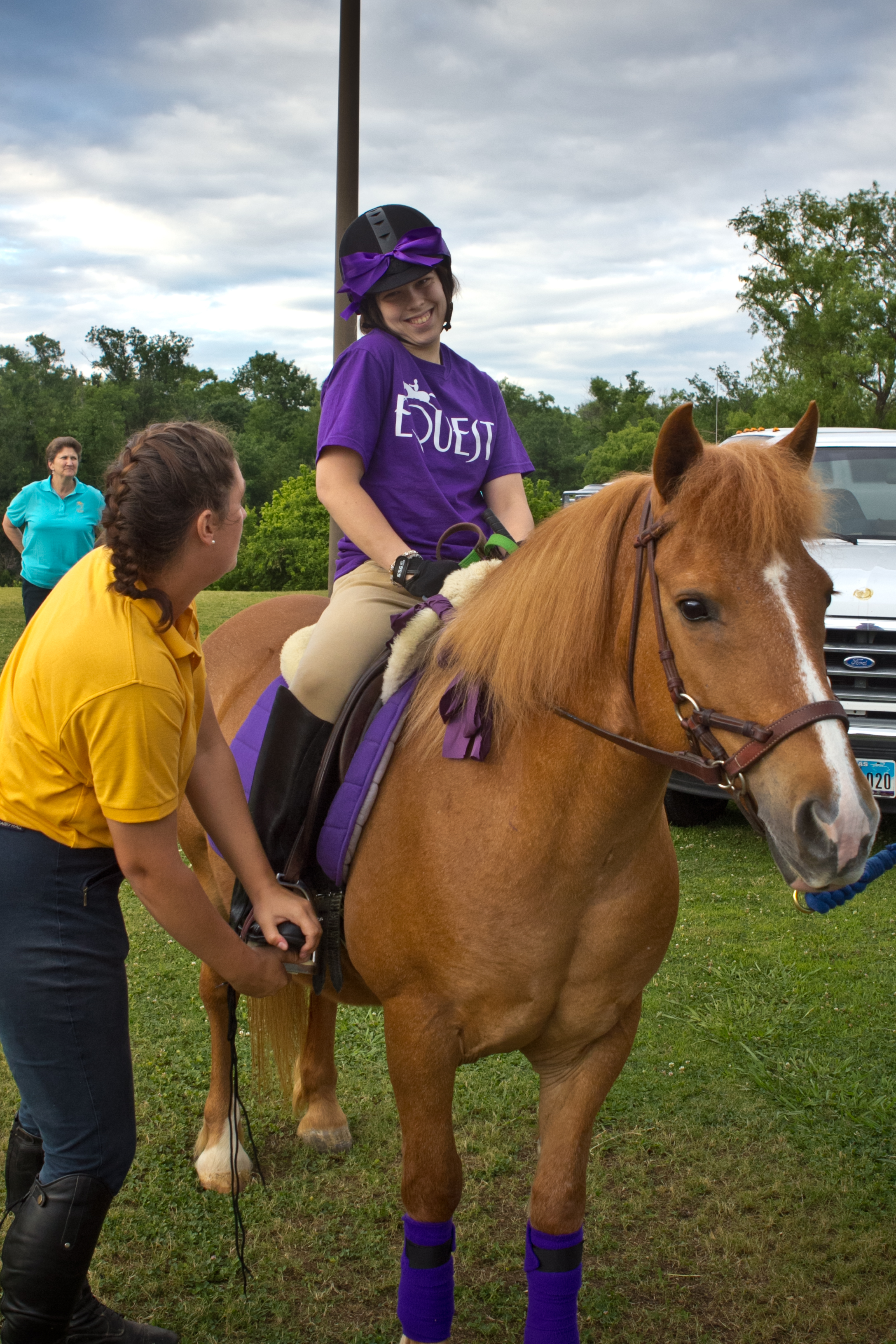 Nancy on Babe at Equest's 2012 Gala