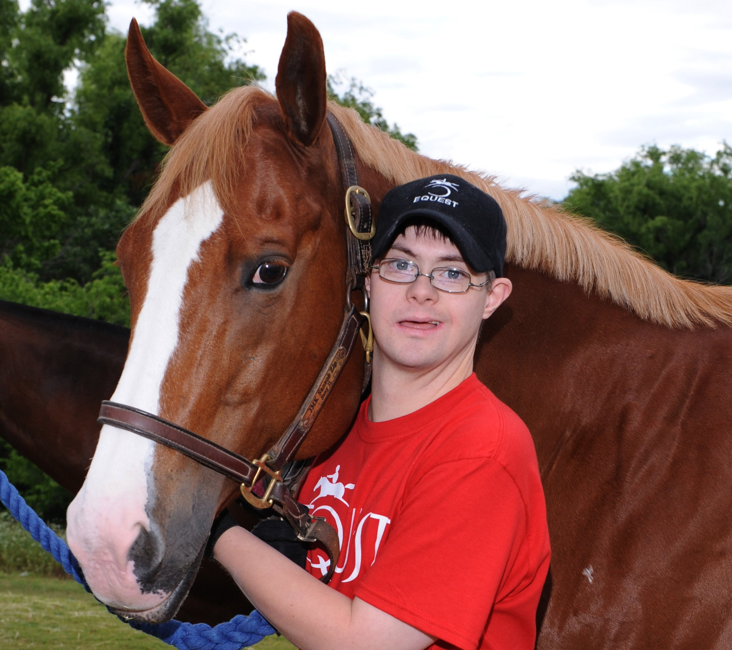 James and Equest Therapy Horse Suzy II at Equest's 2012 Gala
