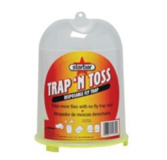 Equest places several fly traps throughout the barns that usually last about a week.