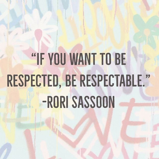 """If you want to be respected, be respectable.""- Rori Sassoon  Read @theartofthedate to find out how! (Link to book is in our bio) . . . #theartofthedate #amazonbestseller #nytbooks #nytbestseller #relationshipexpert #datingexpert #nycmatchmaker #realtionshipadvice #glucksolutions #platinumpoire #handsome #monday  #Love #Happiness #Couple #Boyfriend #Relationships #Kiss #Heart #Power #Forever #Iloveyou #BestMatchmaker #LoveEverywhere #LoveCoaching #Dating #NYCPowercouples"