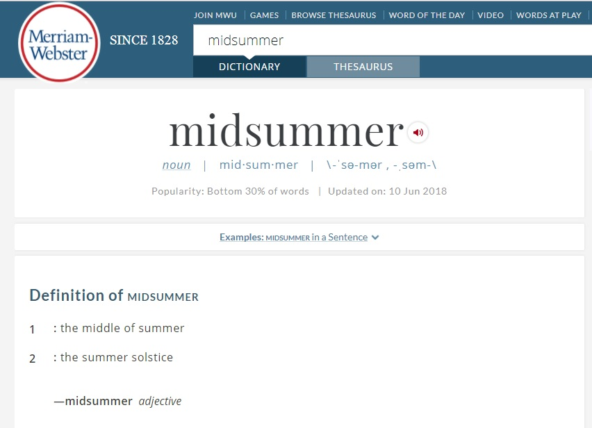 4th of July is originally the pagan festival of Old Midsummer's Eve