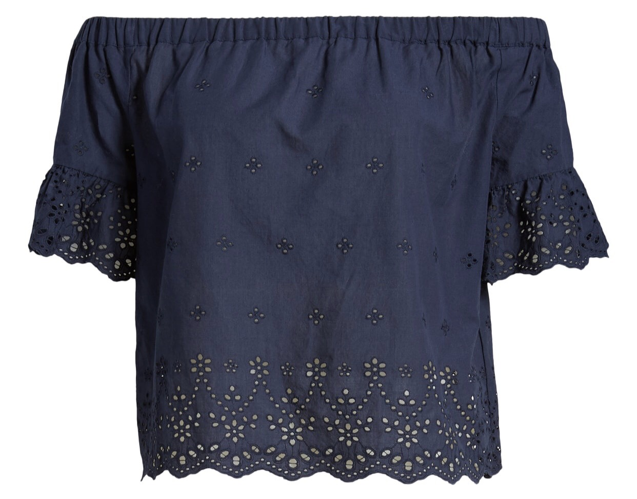 Madewell OTS Eyelet Blouse {$58.90} - After sale: $88