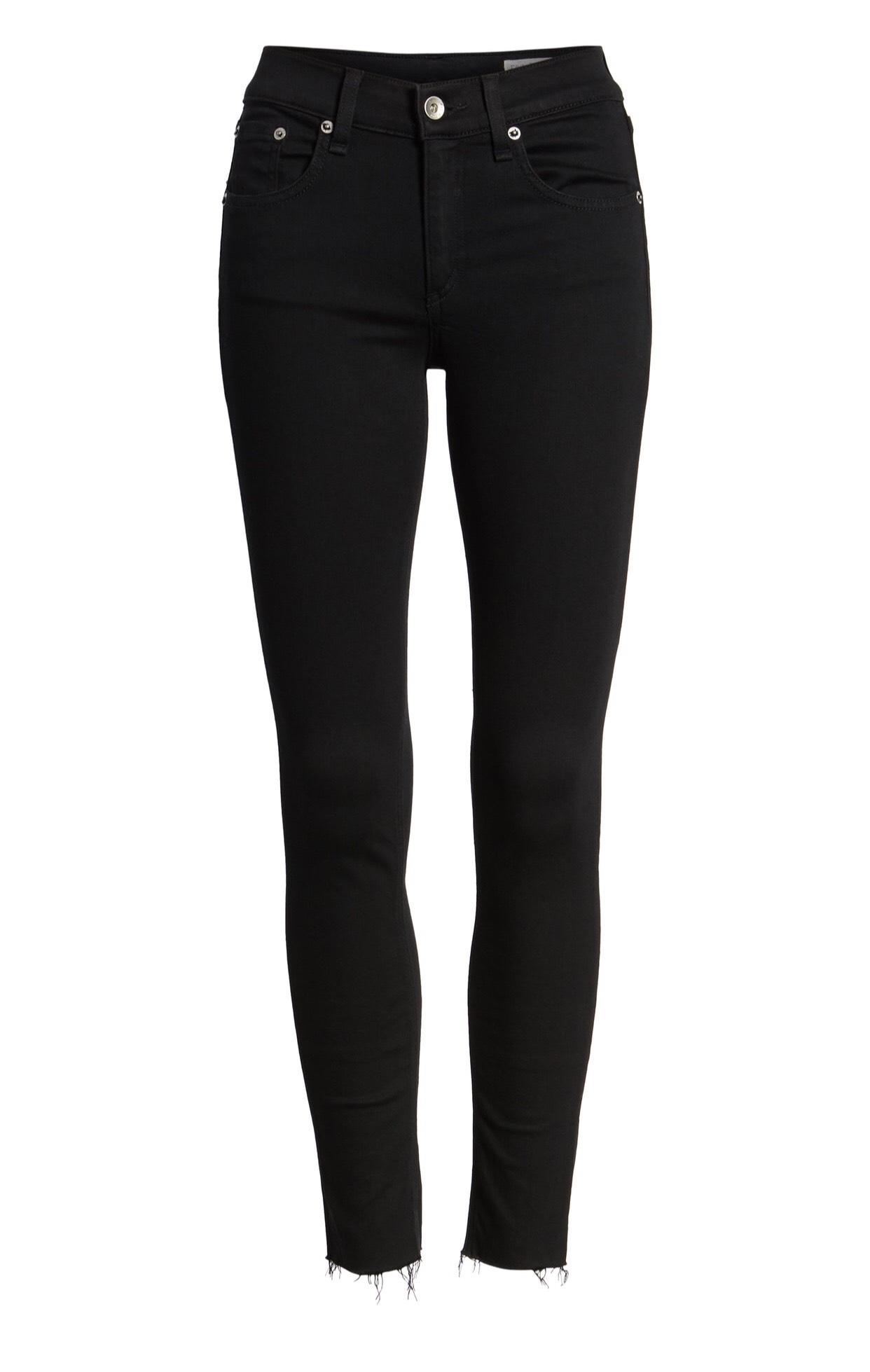 rag & bone Raw Hem Ankle Skinny Jeans {$129.90} - After sale: $195