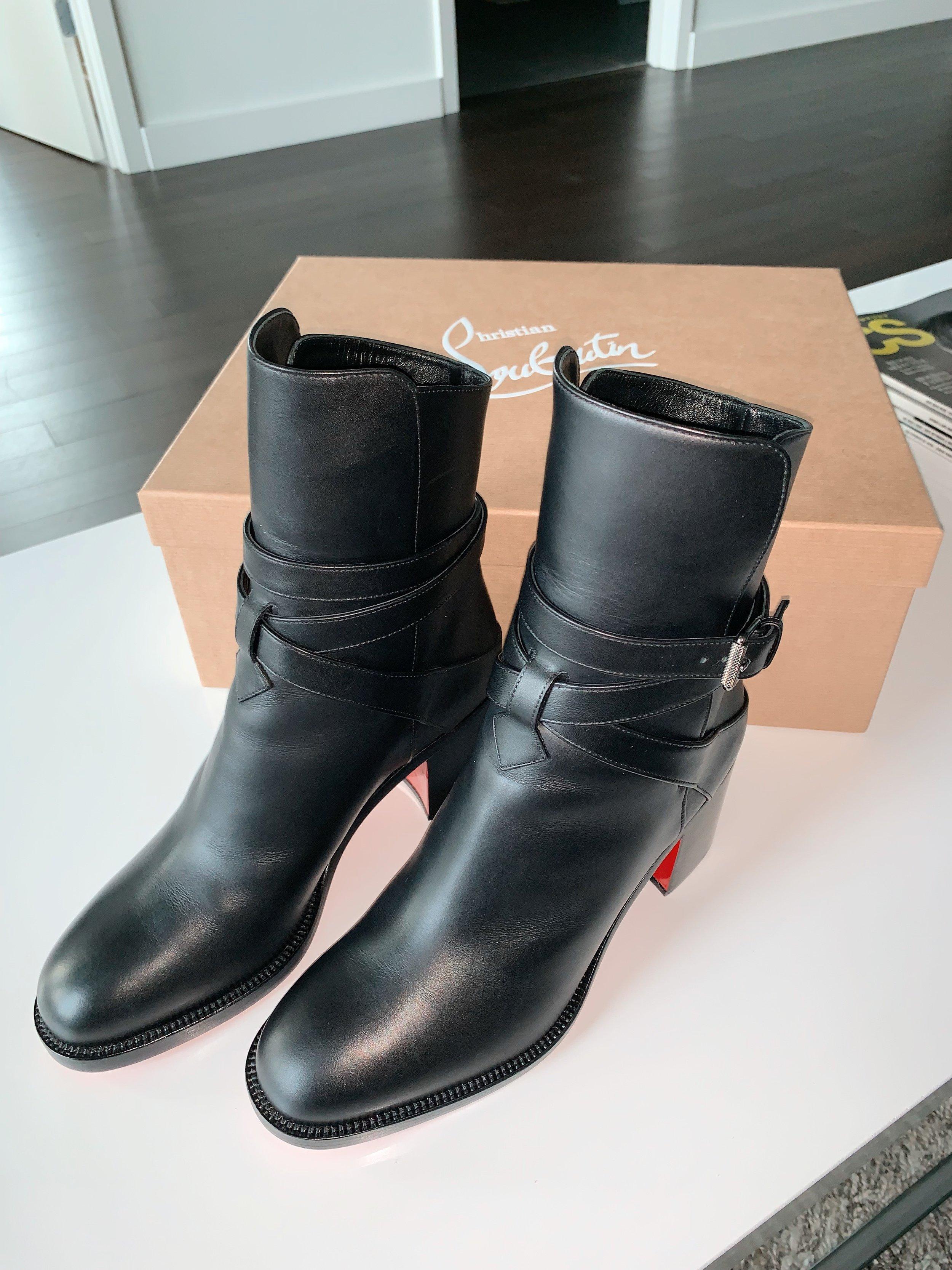 8. Christian Louboutin 'Karistrap' Ankle Bootie {$1,095} -