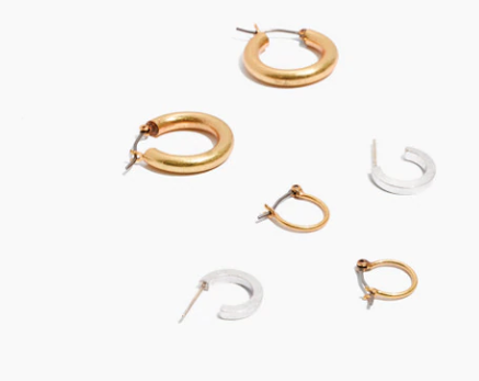 6. Madewell 3-Pack Hoop Earrings {$32} -