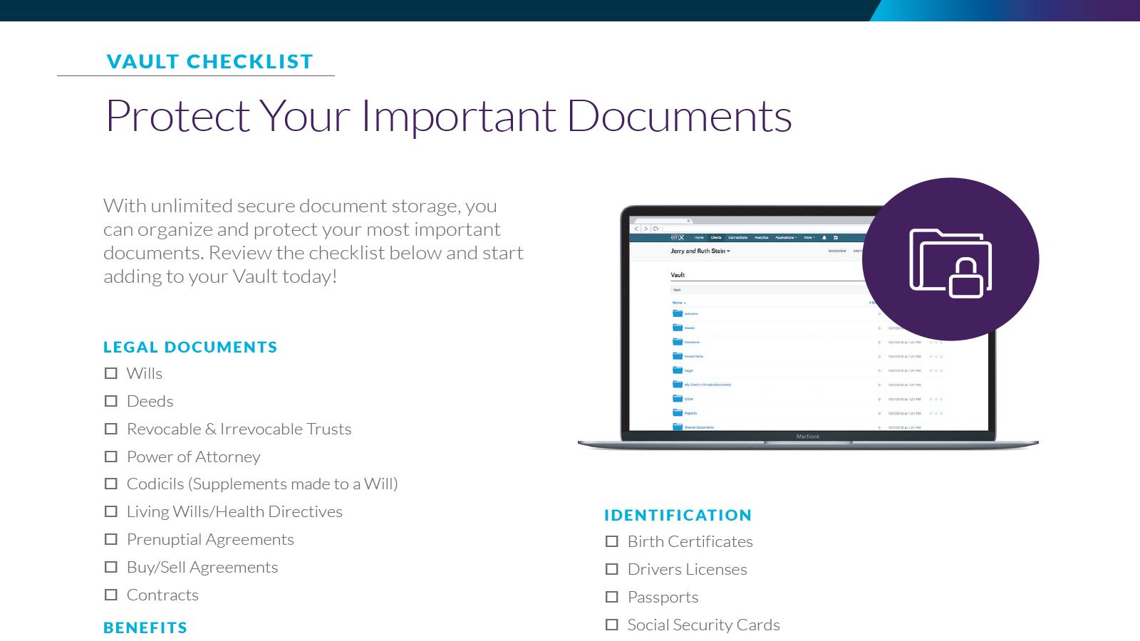 Vault Checklist [PDF Download]
