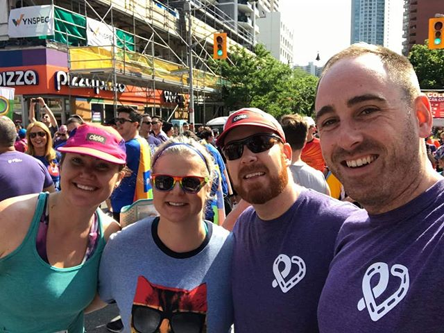 Great day for a run with friends! Thanks to @priderunto and all the volunteers for making it happen! . . . #priderun #pridetoronto #priderunto