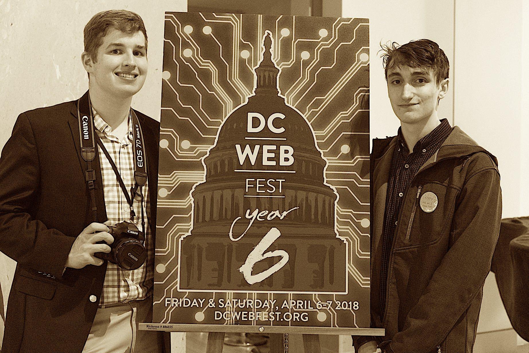 Cam Willams (left) & Romeo Carbarga (right) of the DC Web Fest Team.