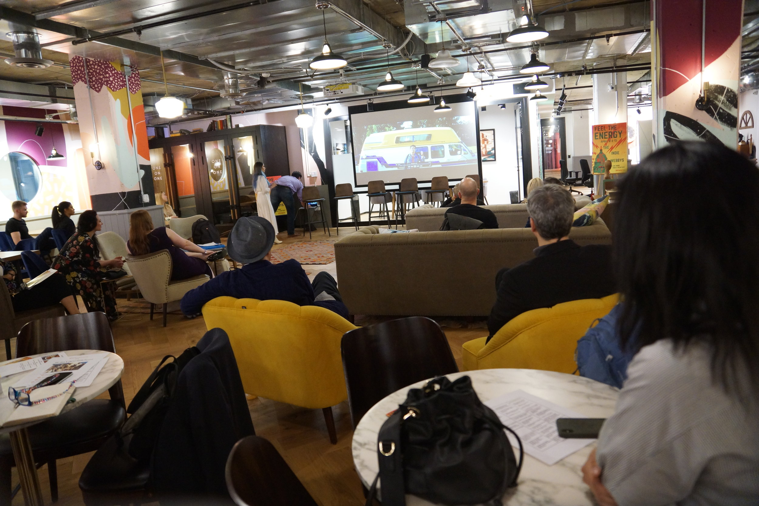 International web series watch party at Mindspace