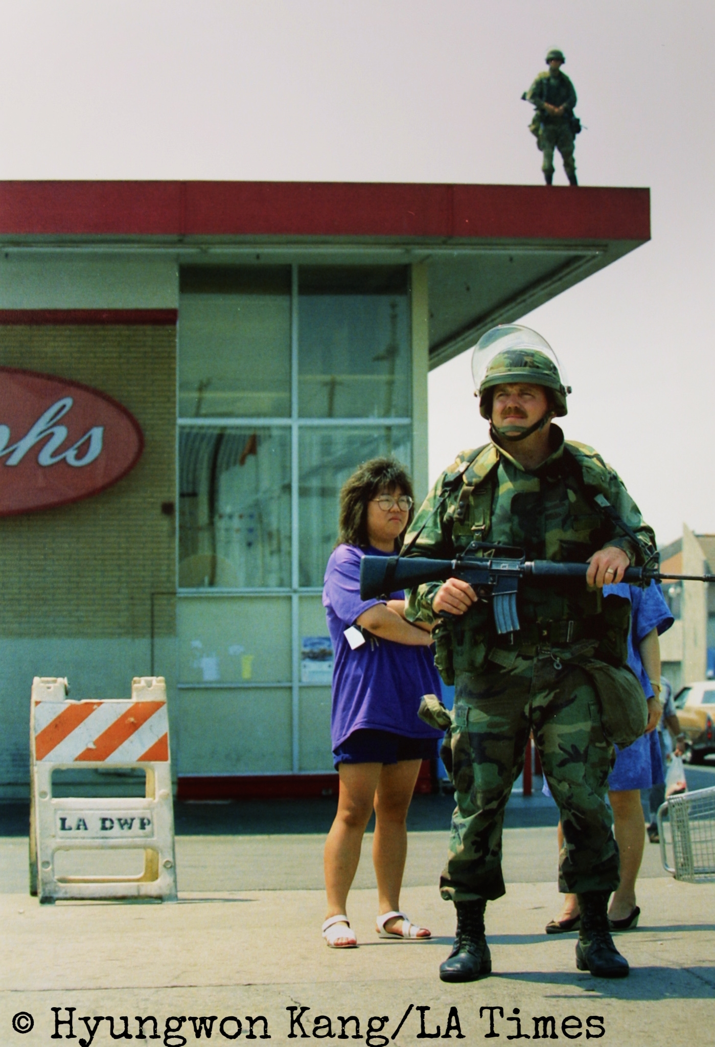 National Guard in Koreatown