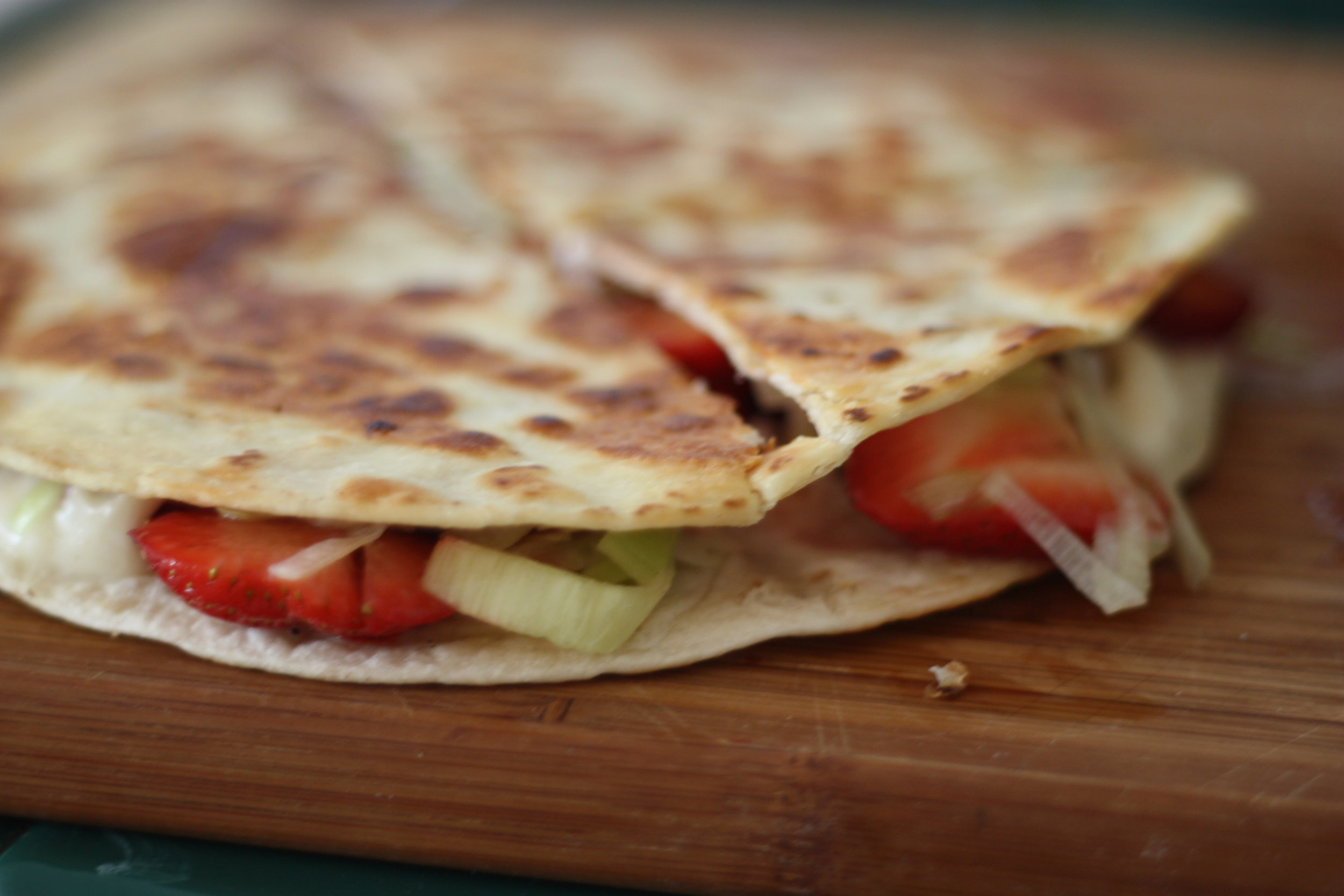 Strawberry Leek Quesadillas