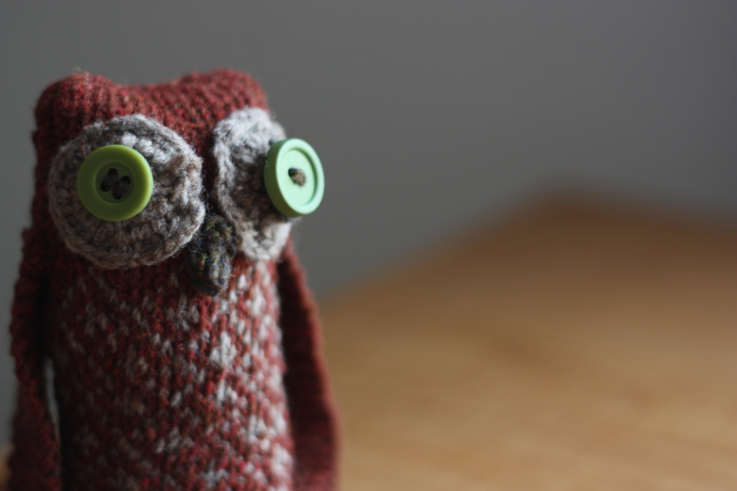 knitting pattern owl