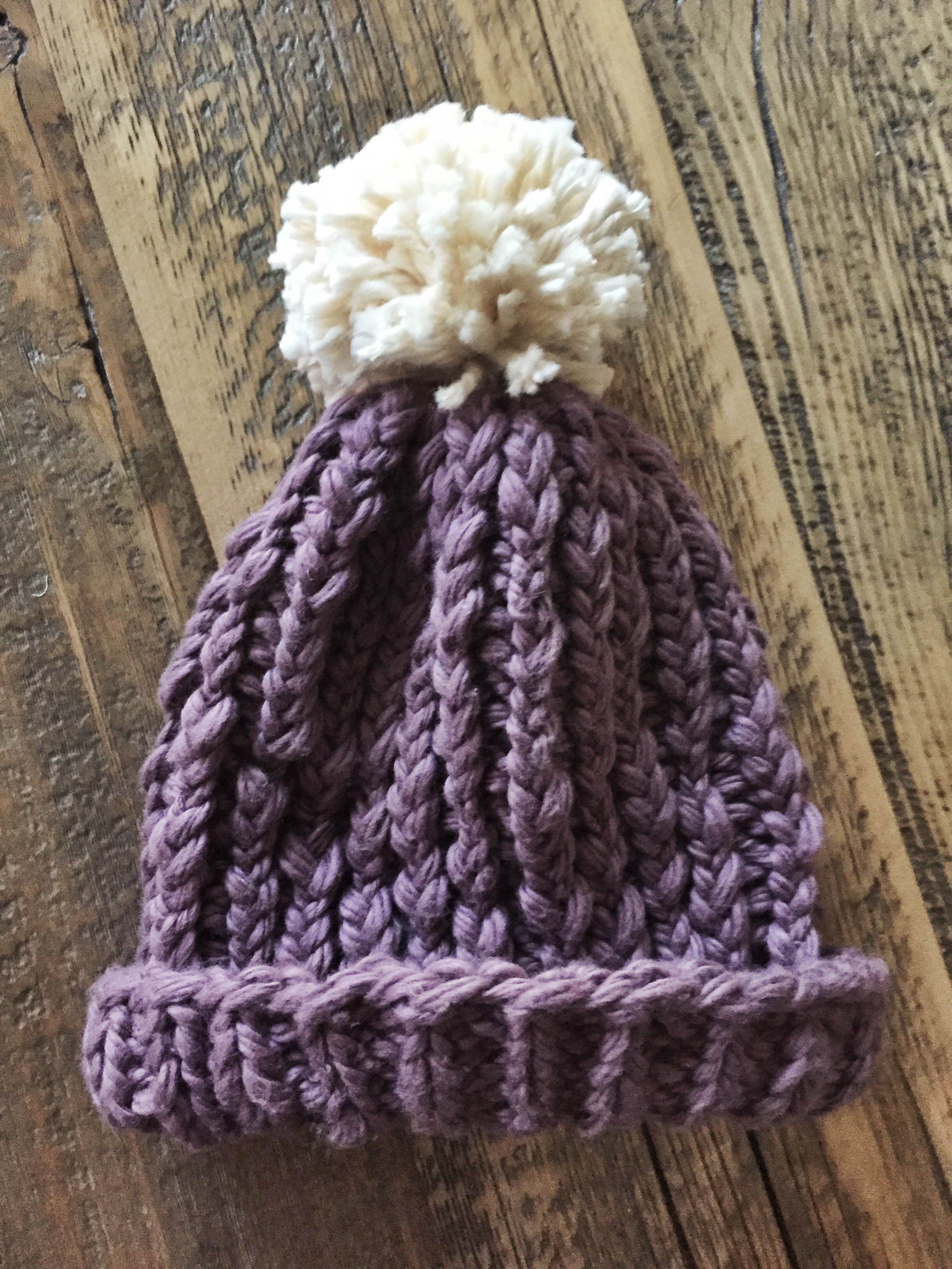easy knit baby hat