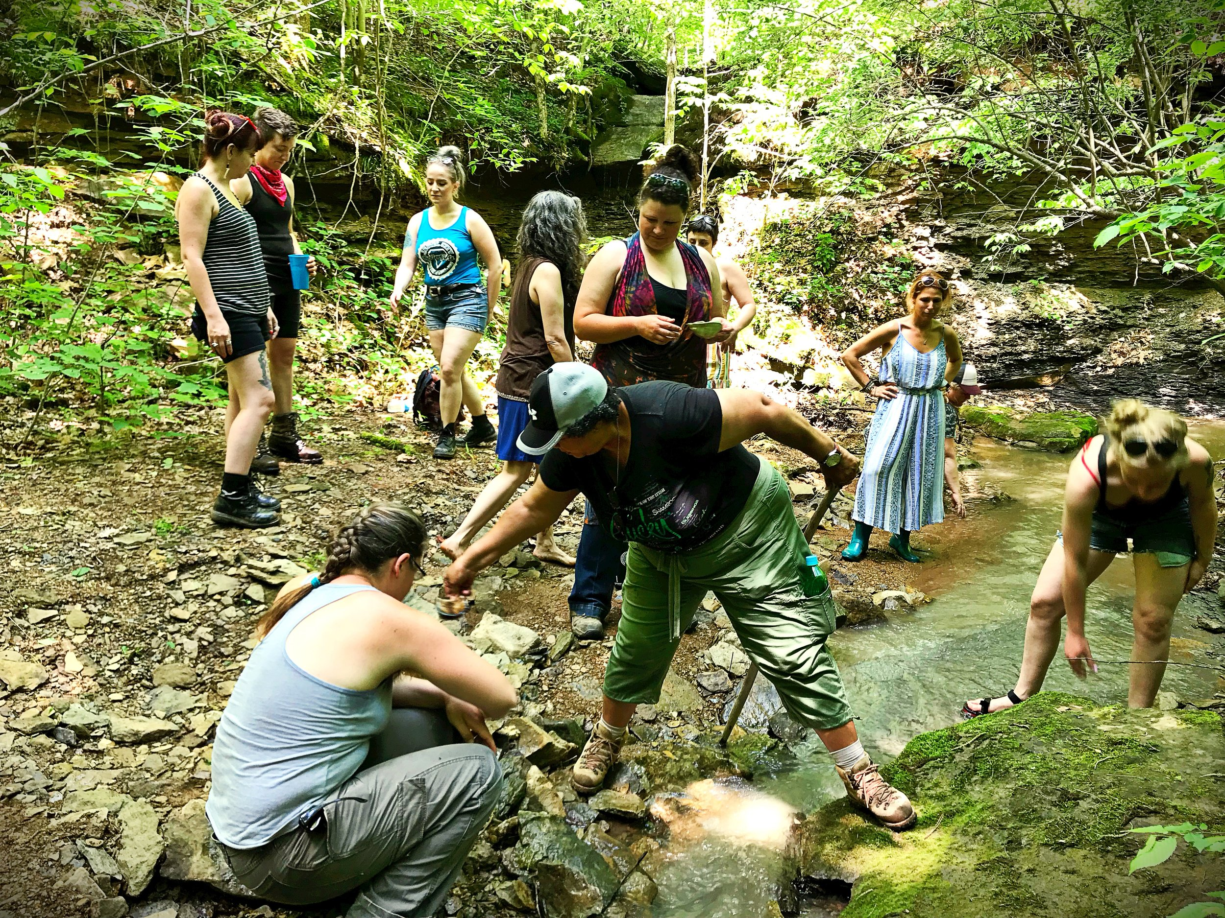 Filling the still with water from Crone's Creek. Photo: Erika Galentin