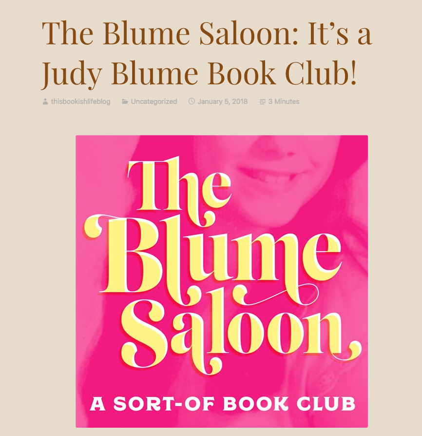 This Bookish Life: The Blume Saloon