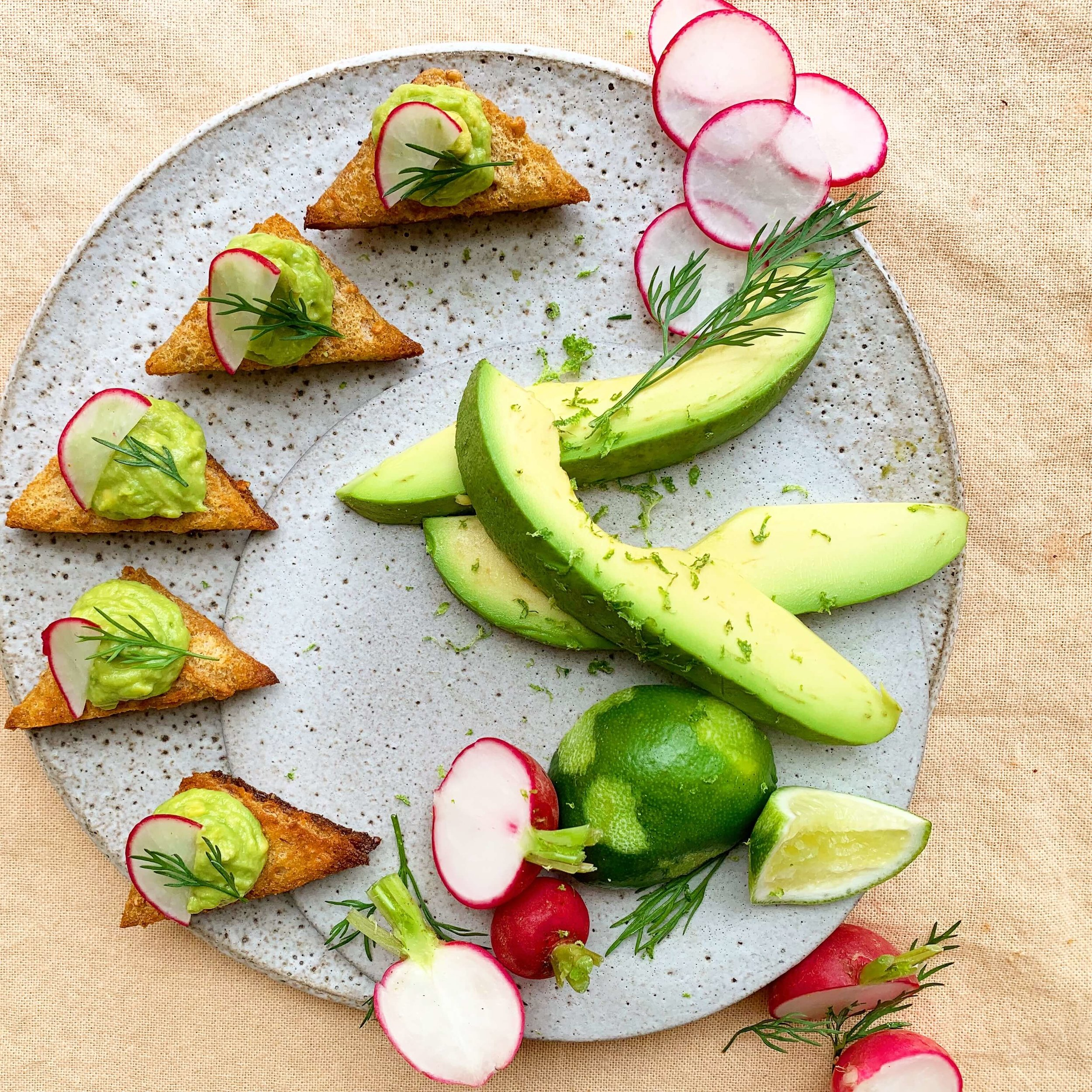 avocado toast - vegan menu