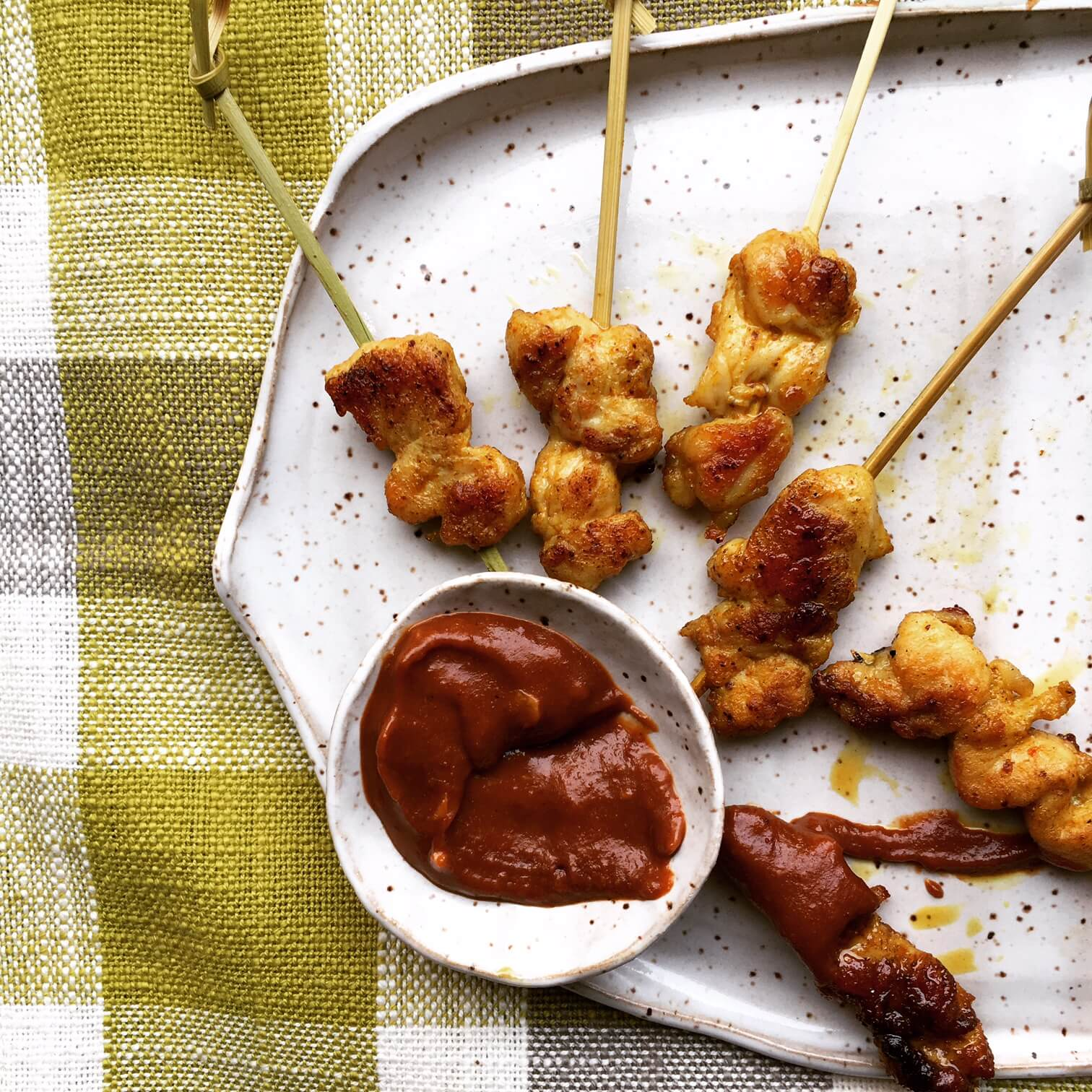 chicken satay - drop off menu