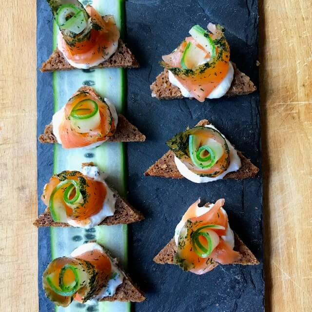 Salmon gravlax - choice menu