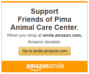 Use Amazon Smile to shop our wish lists and a percentage of every purchase is donated back to the pets!