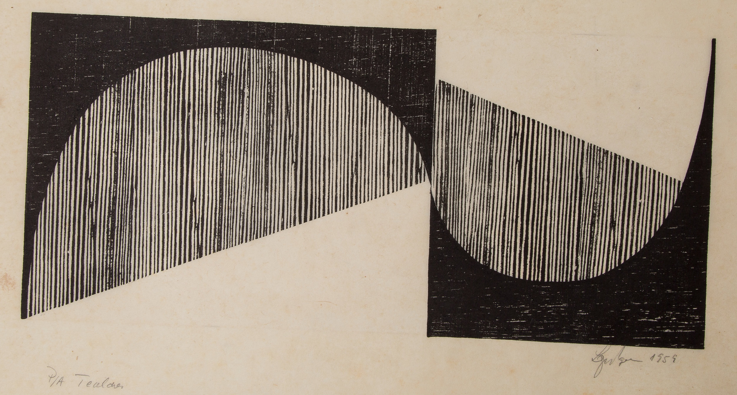 Lygia Pape (Brazilian, 1927–2004) Tecelar 1959 Woodcut on Japanese paper, 11 7/8 x 21 1/4 in. (30 x 54 cm) Photo: Paula Pape © Projeto Lygia Pape