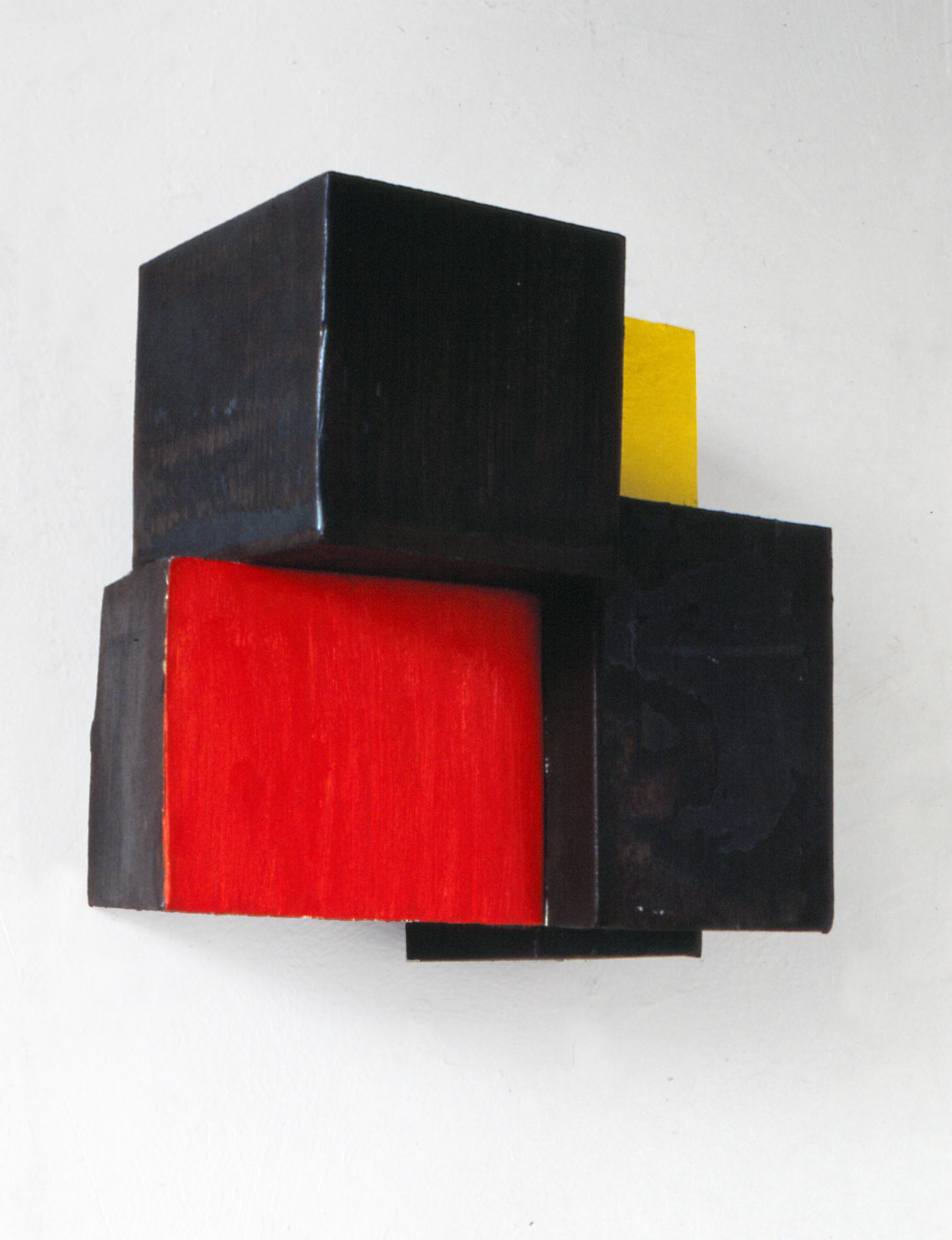 Pello Irazu   Happy (Feliz) , 1988 Steel structure and oil paint 22 x 22 x 14 cm Private collection, Barcelona © VEGAP, Bilbao, 2017