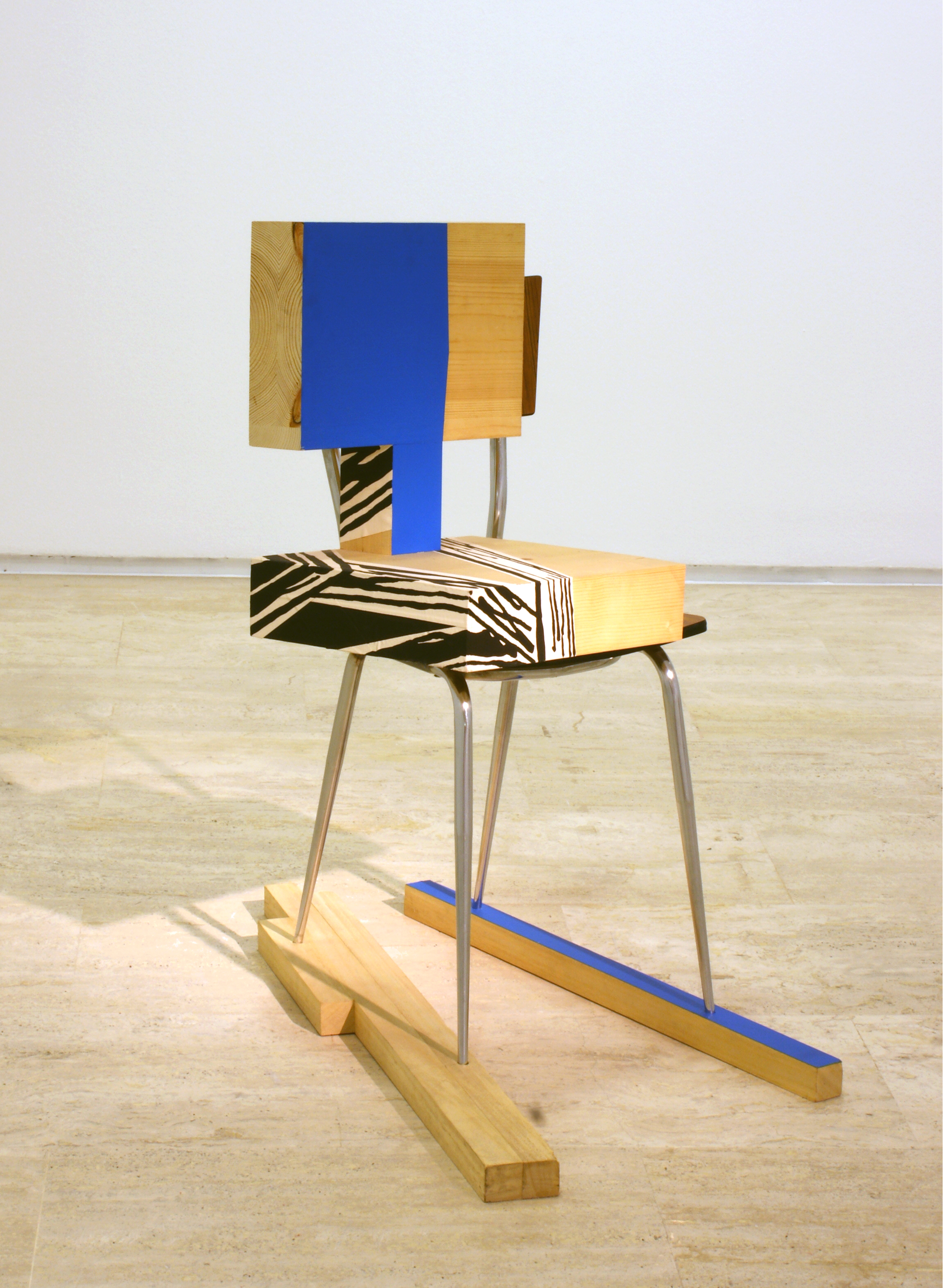Pello Irazu   Shadow (Sombra) , 2002 Chair, wood, adhesive tape, and paint 93 x 50 x 90 cm Collection of the artist © VEGAP, Bilbao, 2017