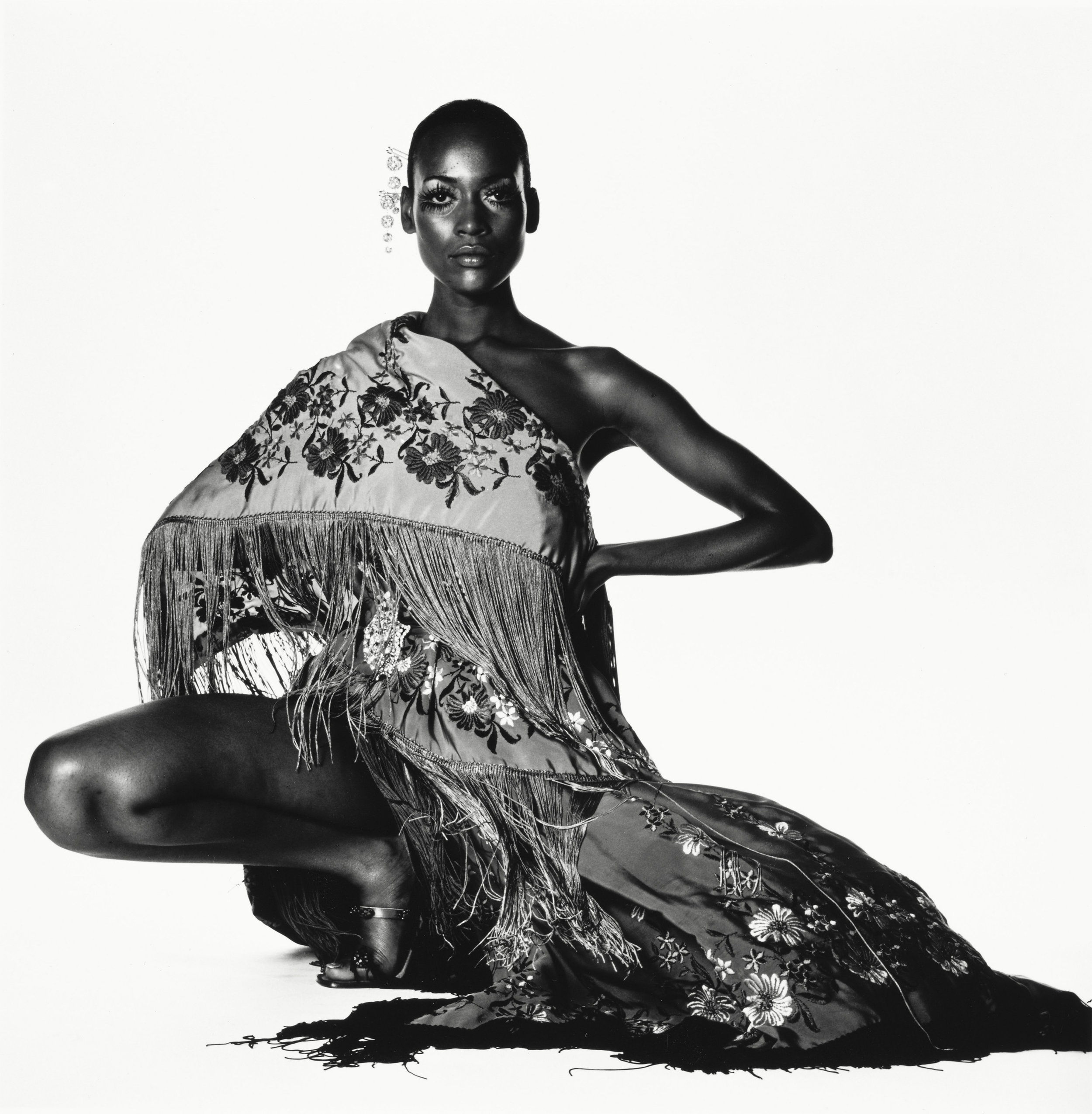 Irving Penn (American, 1917–2009)    Naomi Sims in Scarf , New York, ca. 1969    Gelatin silver print, 1985  10 ½ × 10 ⅜ in. (26.7 × 26.4 cm)  The Metropolitan Museum of Art, New York  Promised Gift of The Irving Penn Foundation  © The Irving Penn Foundation