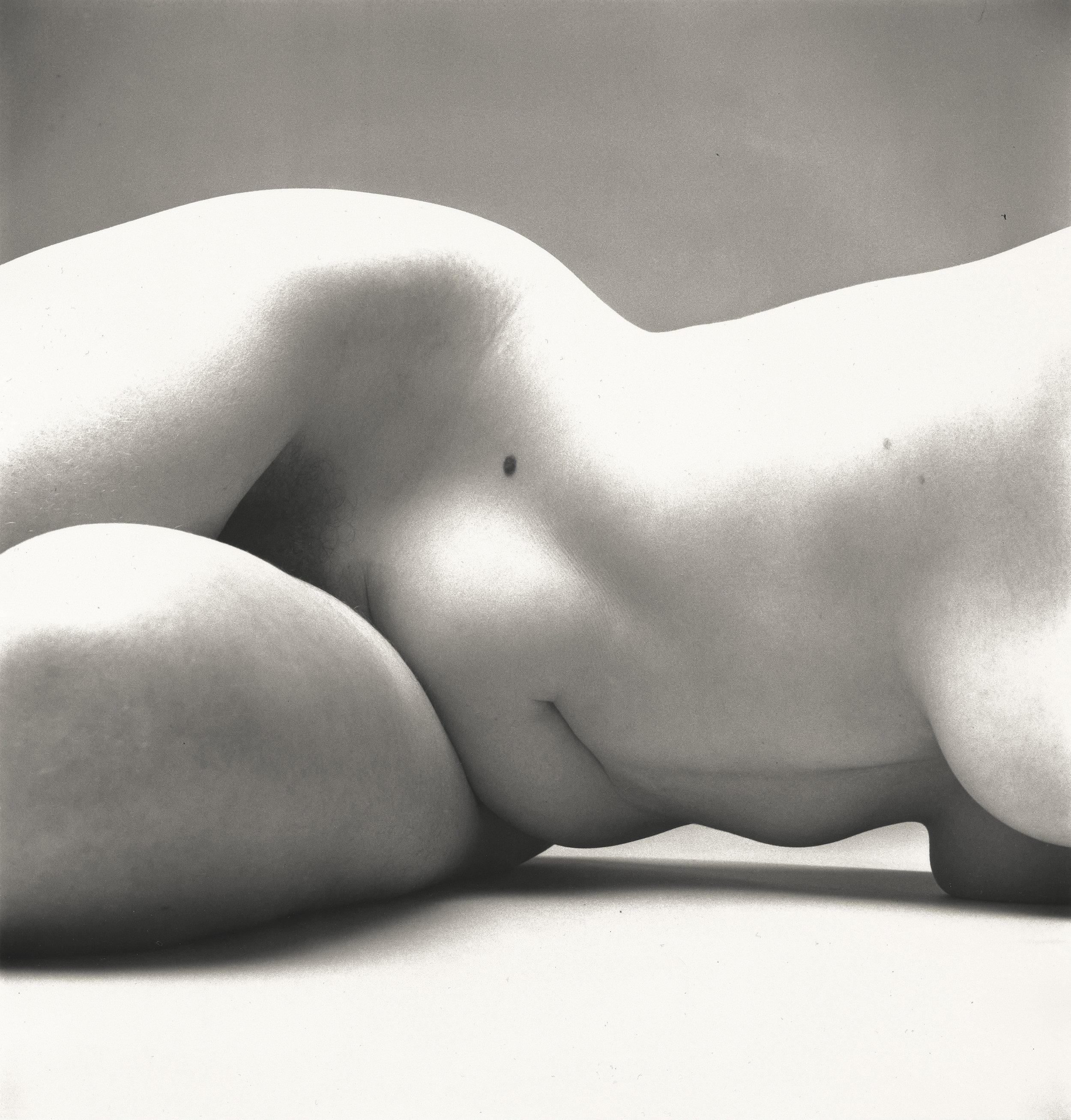 Irving Penn (American, 1917–2009)    Nude No. 72 , New York, 1949–50    Gelatin silver print  15 ⅝ × 14 ¾ in. (39.7 × 37.5 cm)  The Metropolitan Museum of Art, New York,  Gift of the artist, 2002  © The Irving Penn Foundation