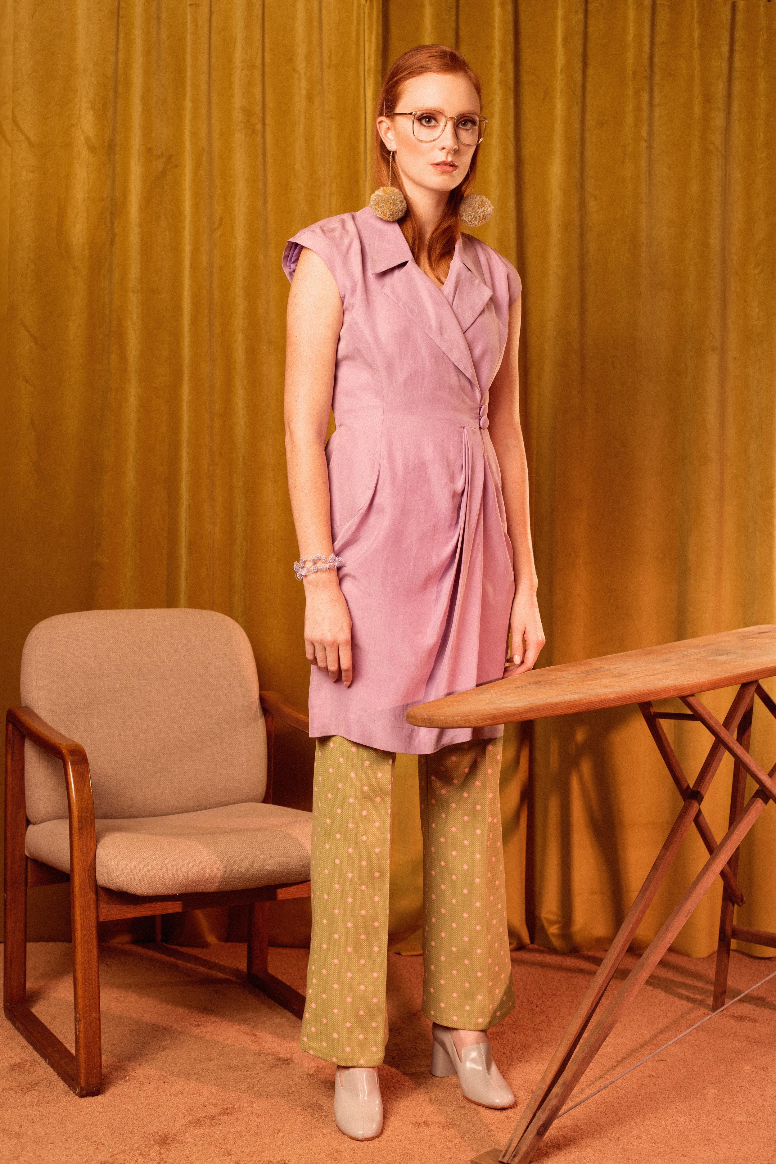 Shoes: Rachel Comey  Pants & Vest: Vintage  Bracelet & earrings: Claire Drennan Knitwear