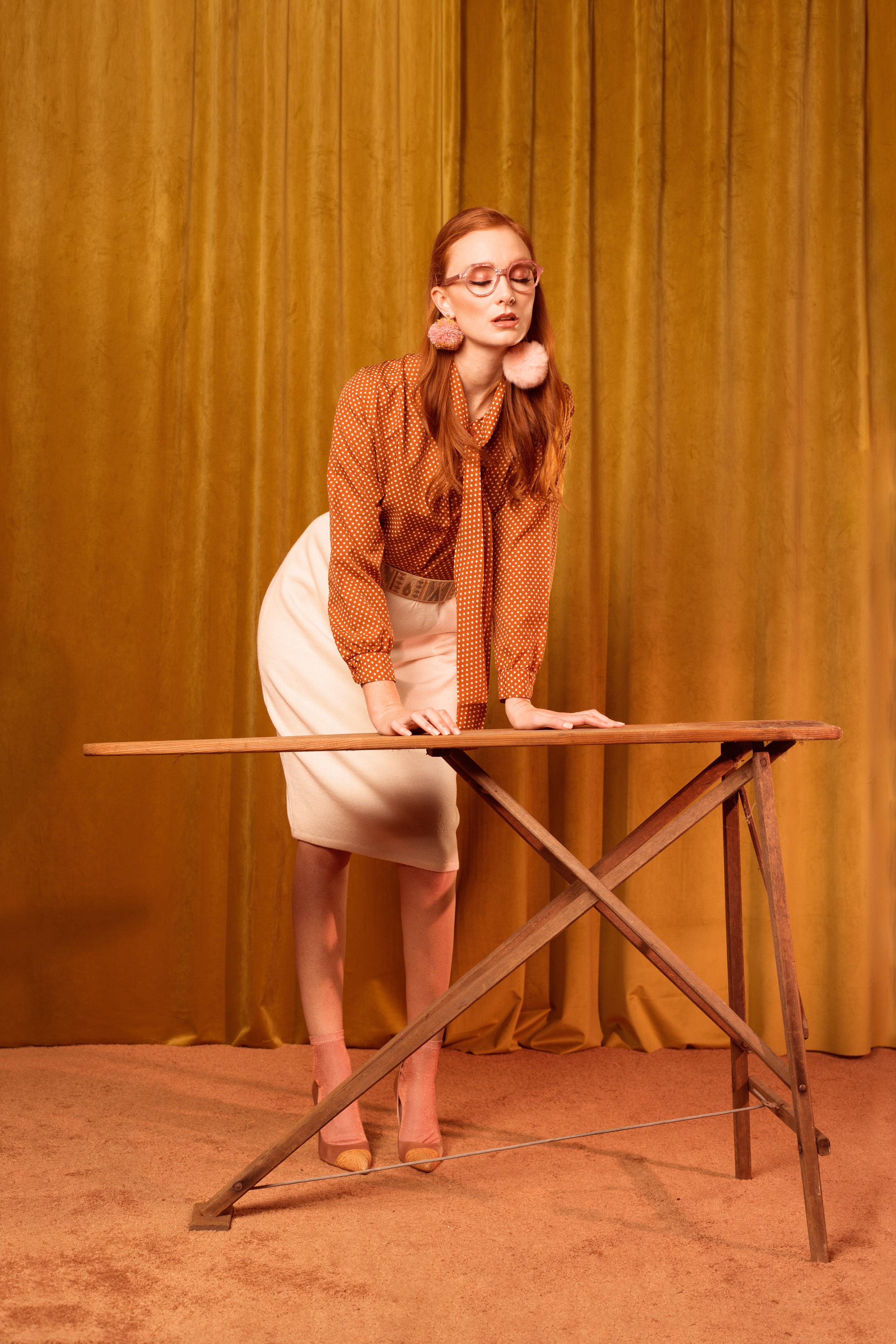 Shoes: Prada  Socks: Asos  Skirt & Shirt: Vintage  Earrings: Claire Drennan Knitwear