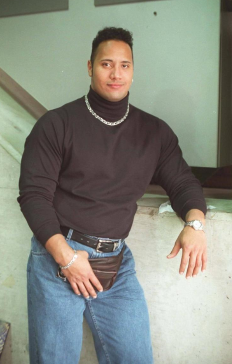 The infamous fanny pack image from The Rock.