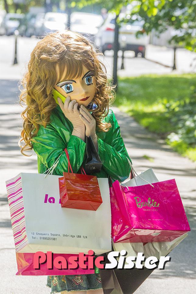Plastic Sister is a bit of a shopaholic