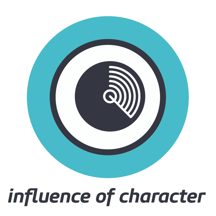 INFLUENCE OF CHARACTER    Our behaviour impacts on those around us, the recurring patterns reflecting our character.