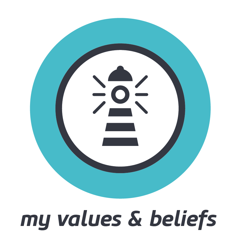 MY VALUES & BELIEFS    Values & beliefs can guide and govern our behaviour. Know their worth and their bias.