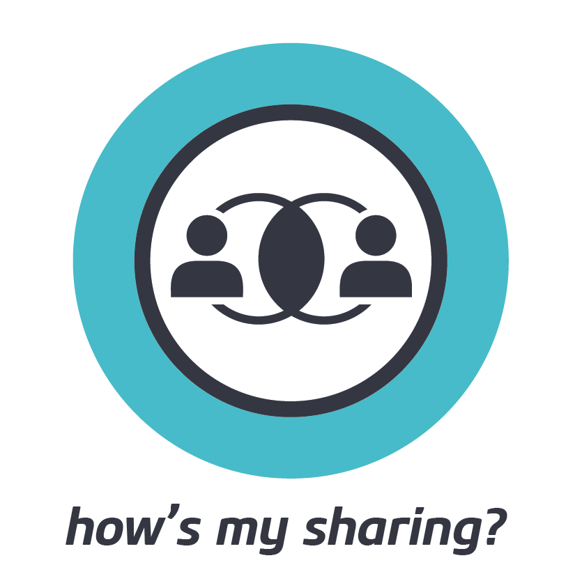 HOW'S MY SHARING?    Rate your current propensity to share. Become a better collaborator.