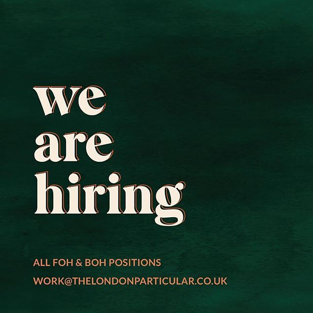 We're all go with the build and now on the lookout for positive, talented and hard working people to join the team! Chefs, Baristas, Bartenders... drop us an email and lez tawk