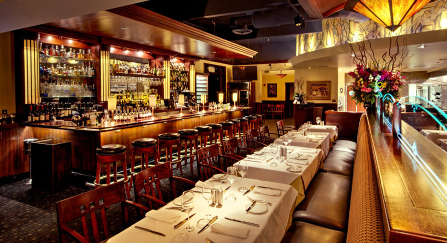 Arroyo Chop House main dining room and bar.P