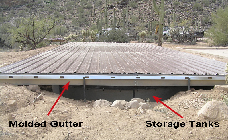 AZ Rain Collection Roof & Gutter