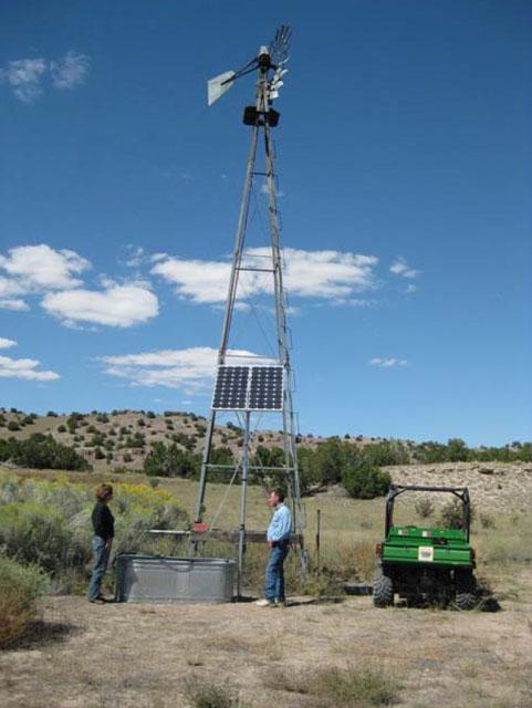 Solar Pump Station For Wildlife Guzzler in NM