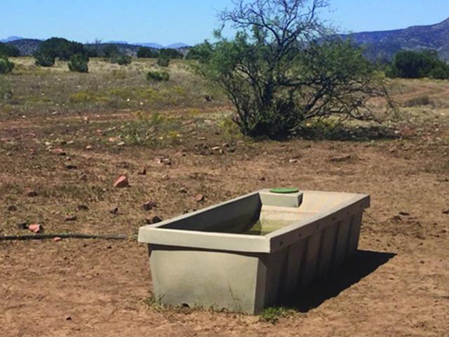 Rainmaker Wildlife Water Trough-250 in Arizona