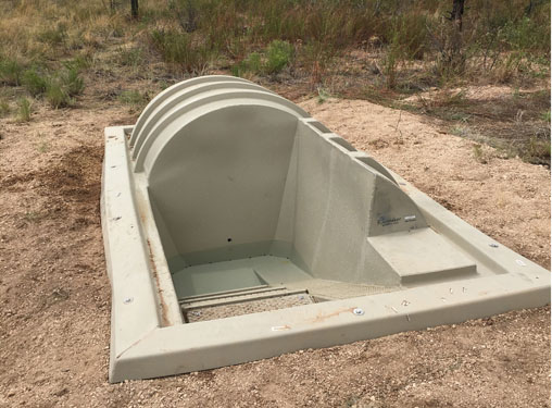 A 1000 Gallon Walk-in Water Guzzler in New Mexico
