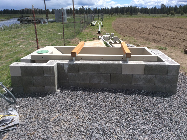 Water Trough Framed-In for Horses