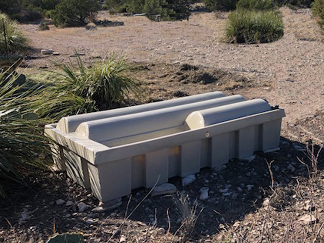 Reduced Water Evaporation with Low-Profile Guzzler