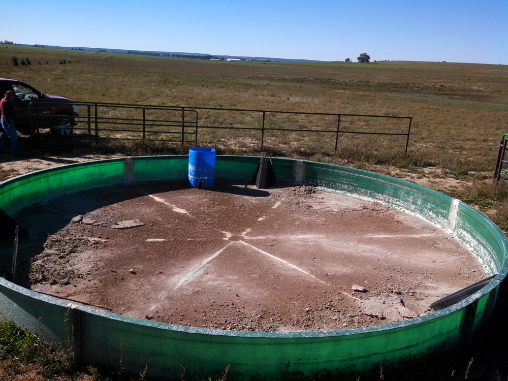 Empty Water Tank with Escape Ramps